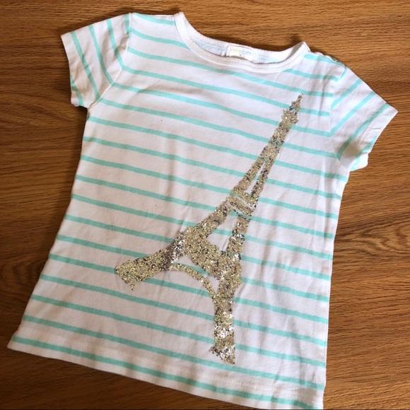 b414191f Crewcuts Shirts & Tops | J Crew Crew Cuts Eiffel Tower Glitter Shirt ...